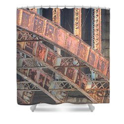 Longfellow Bridge Arches IIi Shower Curtain by Clarence Holmes