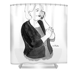 Look, I Just Don't Want To Use A Government Email Shower Curtain by Emily Flake