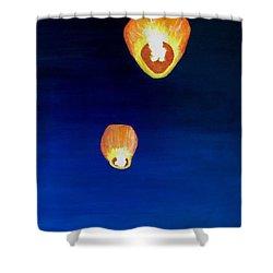 Lorraine's Lanterns Shower Curtain by Jack Skinner