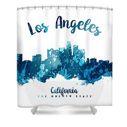 Los Angeles California Skyline 27 Shower Curtain by Aged Pixel