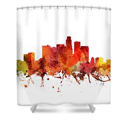 Los Angeles Cityscape 04 Shower Curtain by Aged Pixel