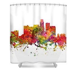Los Angeles Cityscape 08 Shower Curtain by Aged Pixel