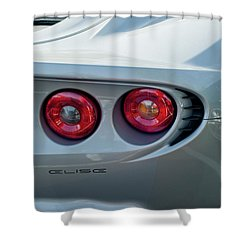 Lotus Elise Taillight Shower Curtain by Jill Reger