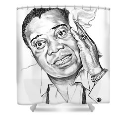 Louis Satchmo Armstrong Shower Curtain by Murphy Elliott
