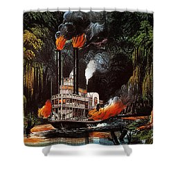 Louisiana: Steamboat, 1865 Shower Curtain by Granger