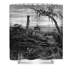 Louisiana: Steamboat Wreck Shower Curtain by Granger