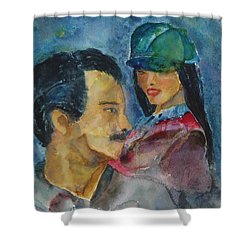 Love At First Sight Shower Curtain by Shelley Jones