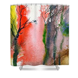 Love Birds 2 Shower Curtain by Anil Nene