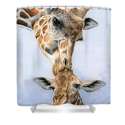 Love From Above Shower Curtain by Sarah Batalka