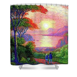 Love Is Sharing The Journey Shower Curtain by Jane Small