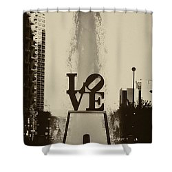 Love Love Love Shower Curtain by Bill Cannon