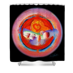 Love Me Or Leave Me Shower Curtain by Charles Stuart
