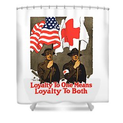 Loyalty To One Means Loyalty To Both Shower Curtain by War Is Hell Store