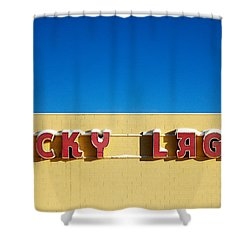 Lucky Lager Shower Curtain by Todd Klassy