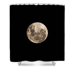 Lunar Perigee Shower Curtain by Andrew Paranavitana