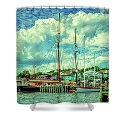 Shower Curtain featuring the photograph Lunenburg Harbor by Rodney Campbell