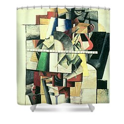 M Matuischin Shower Curtain by Kazimir Severinovich Malevich