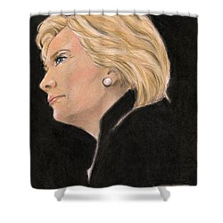 Madame President Shower Curtain by P J Lewis