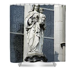 Madonna And Child Shower Curtain by Teresa Mucha