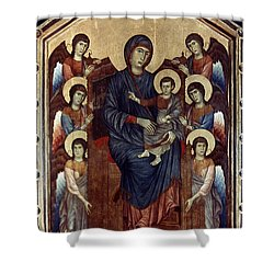 Madonna & Child In Majesty Shower Curtain by Granger