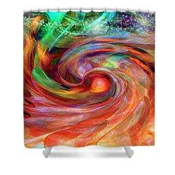 Magical Energy Shower Curtain by Linda Sannuti