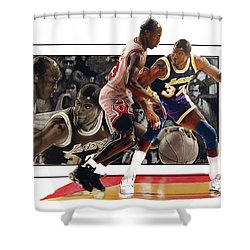 Magicandmike Shower Curtain by Dwayne Lester