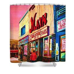 Main Steakhouse Blvd.st.laurent Shower Curtain by Carole Spandau