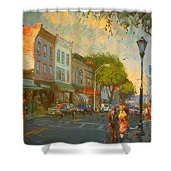 Main Street Nyack Ny  Shower Curtain by Ylli Haruni