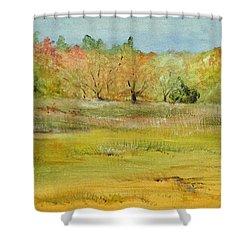 Maine Marsh Shower Curtain by Jean Blackmer