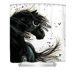 Majestic Friesian Shower Curtain by AmyLyn Bihrle