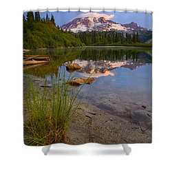 Majestic Glow Shower Curtain by Mike  Dawson