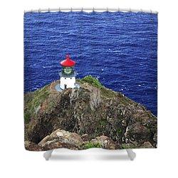 Makapuu Lighthouse II Shower Curtain by Brandon Tabiolo - Printscapes
