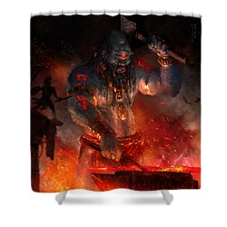 Maker Of The World Shower Curtain by Ryan Barger