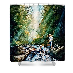 Making Memories Shower Curtain by Hanne Lore Koehler