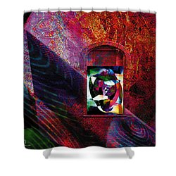 Man In The Moon Shower Curtain by David Derr