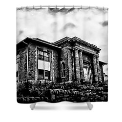 Manayunk Branch Of The Free Library Of Philadelphia Shower Curtain by Bill Cannon