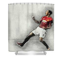 Manchester United's Zlatan Ibrahimovic Celebrates Shower Curtain by Don Kuing