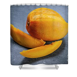 Mango And Slices Shower Curtain by Elena Elisseeva