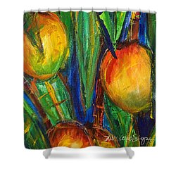 Mango Tree Shower Curtain by Julie Kerns Schaper - Printscapes