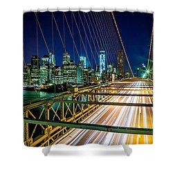 Manhattan Bound Shower Curtain by Az Jackson