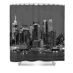 Manhattan Twilight Iv Shower Curtain by Clarence Holmes