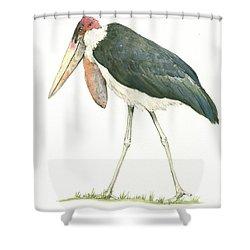 Marabou Shower Curtain by Juan Bosco