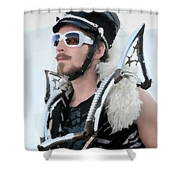 March Fourth Marching Band Shower Curtain by Chris Dutton