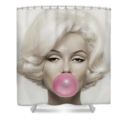 Marilyn Monroe Shower Curtain by Vitor Costa