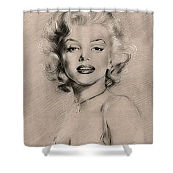 Marilyn Monroe Shower Curtain by Ylli Haruni