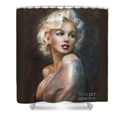 Marilyn Ww Soft Shower Curtain by Theo Danella