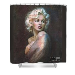 Marilyn Ww  Shower Curtain by Theo Danella