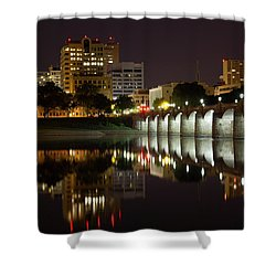 Market Street Bridge Reflections Shower Curtain by Shelley Neff
