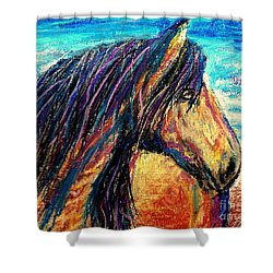 Marsh Tacky Wild Horse Shower Curtain by Patricia L Davidson