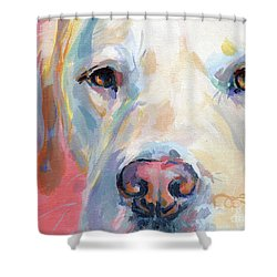 Martha's Pink Nose Shower Curtain by Kimberly Santini
